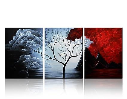 Quadro Triple pittura camera da letto pittura pitture decorative ...