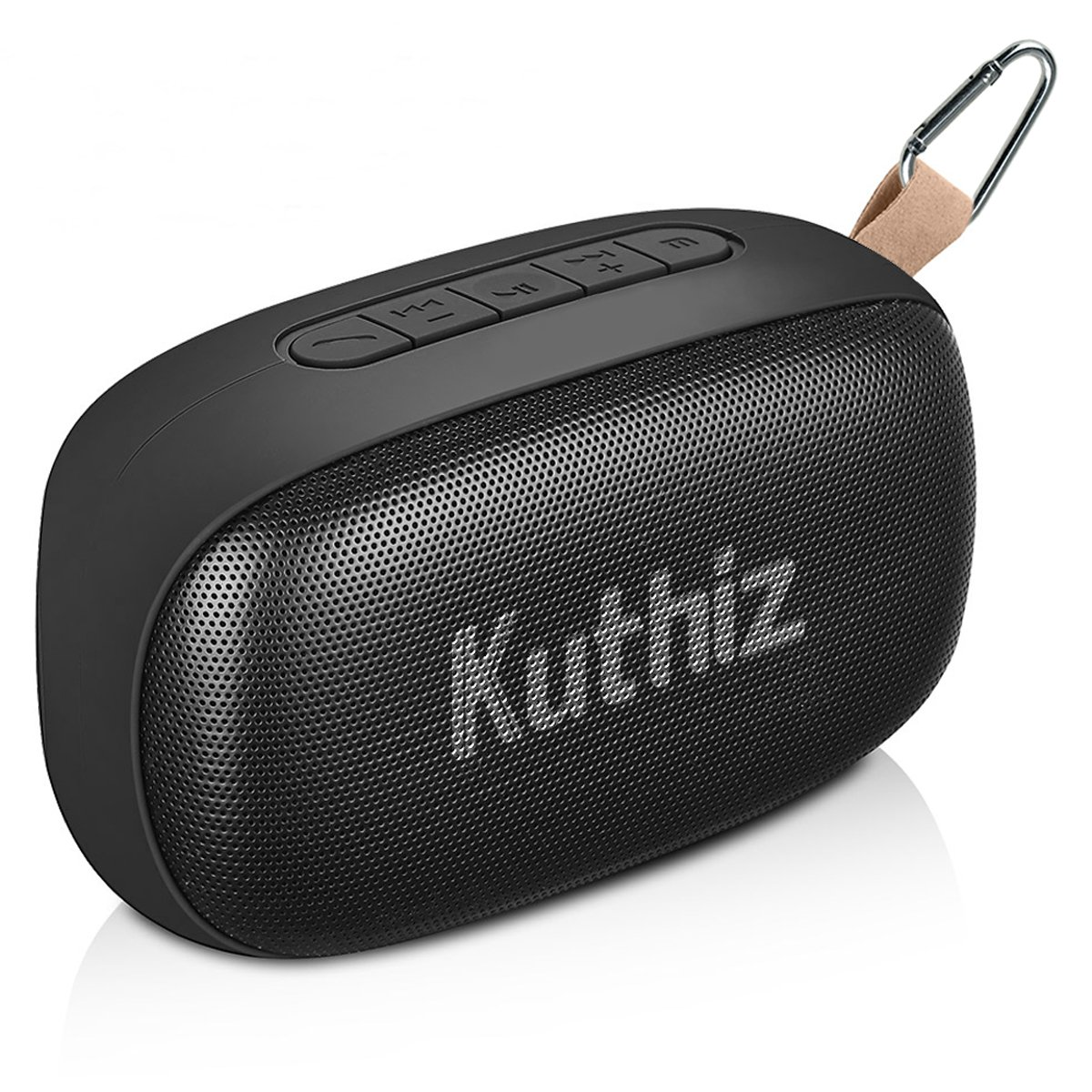 Kuthiz Portable Bluetooth Speakers with Stereo Sound and Enhanced Bass, IPX5 Waterproof with V4.2, Handsfree Call, AUX Line, Outdoor Home Mini Speaker for iPhone Andriod Tablet PC Smartphone (Black)