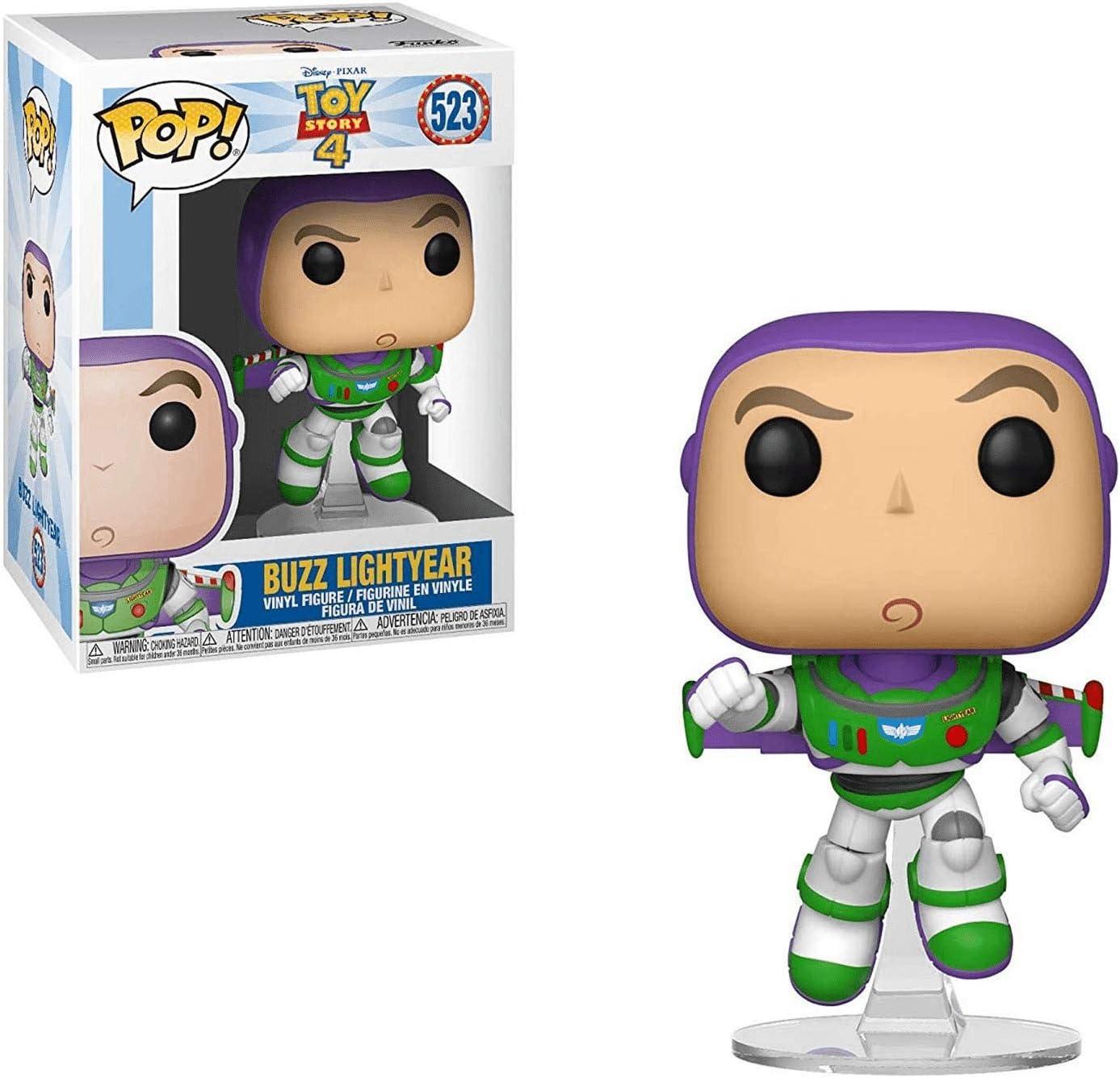 Funko- Pop Vinilo: Disney: Toy Story 4: Buzz Lightyear Figura Coleccionable, Multicolor, Talla Única (37390)