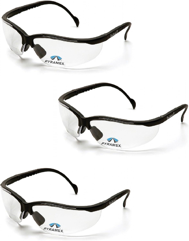 1.5 CLEAR SB1810R15 2-SAFETY GLASSES PYRAMEX V2 READERS