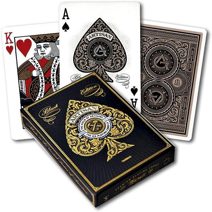 Amazon.com: Artisan Playing Cards (Black): Sports & Outdoors