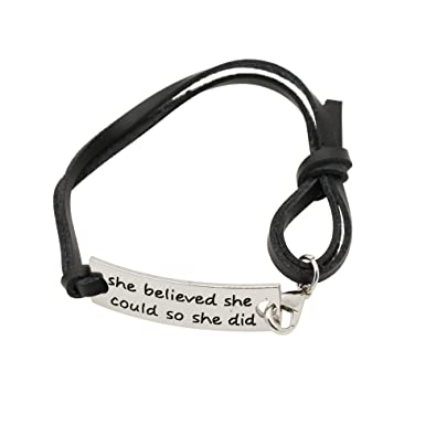 Amazon Com Caromay Cuff Bracelet Women Adjustable Leather