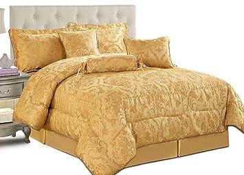 Parure de lit, couette, couvre lit matelassé de luxe, 7 pièces, en