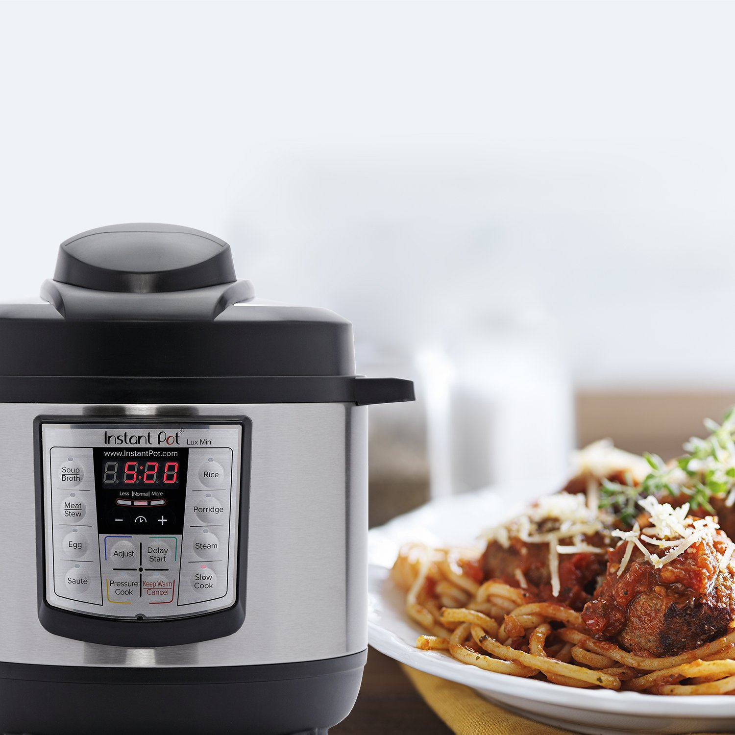 Steamer Rice Cooker and Warmer Instant Pot LUX Mini 3 Qt 6-in-1 ...