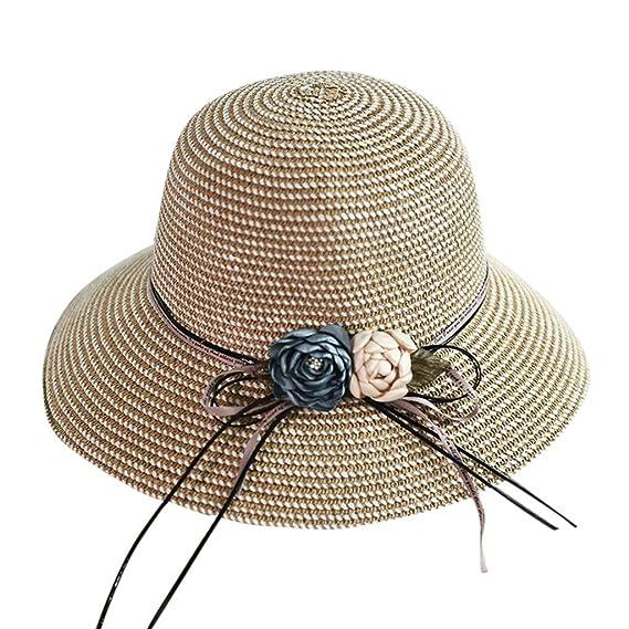 Amazon.com: Sombrero de playa para mujer, estilo casual, de ...