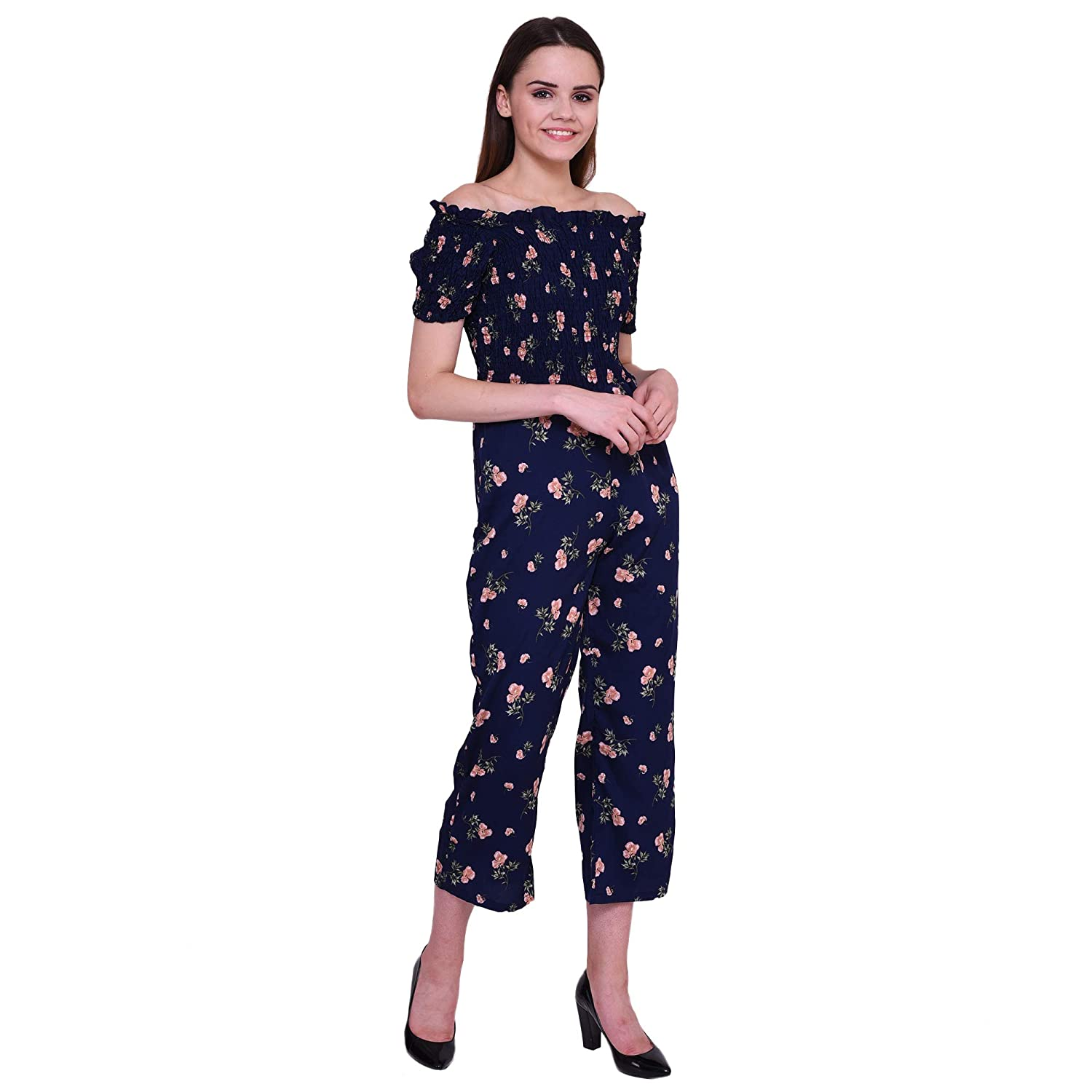 f229689a8625 Dare Above All Casual Half Sleeve Flower Printed Women s Jumpsuit   Amazon.in  Clothing   Accessories