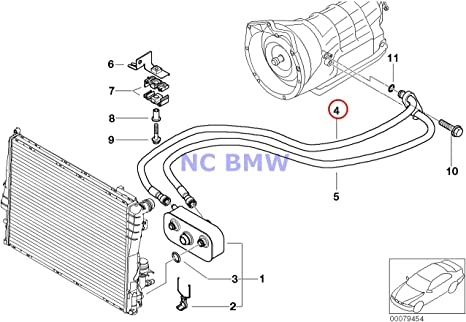 BMW auténtica Radiador caja de cambios automática Tubo de ...