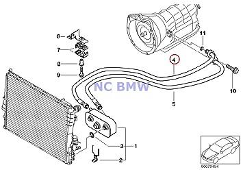 BMW auténtica Radiador caja de cambios automática Tubo de enfriamiento de aceite outlet A5S 360r 325 x i 330 x i: Amazon.es: Coche y moto