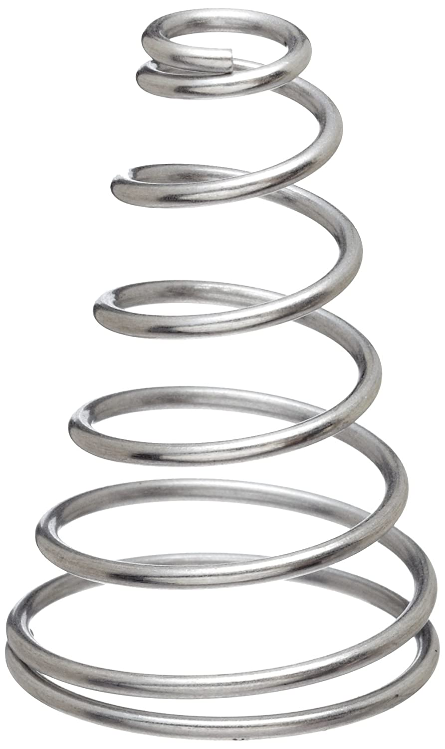 Conical Compression Spring, Type 302 Stainless Steel, Inch, 1.5 ...