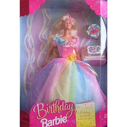 Amazon.com: Muñeca Barbie de cumpleaños – más bonitas forma ...