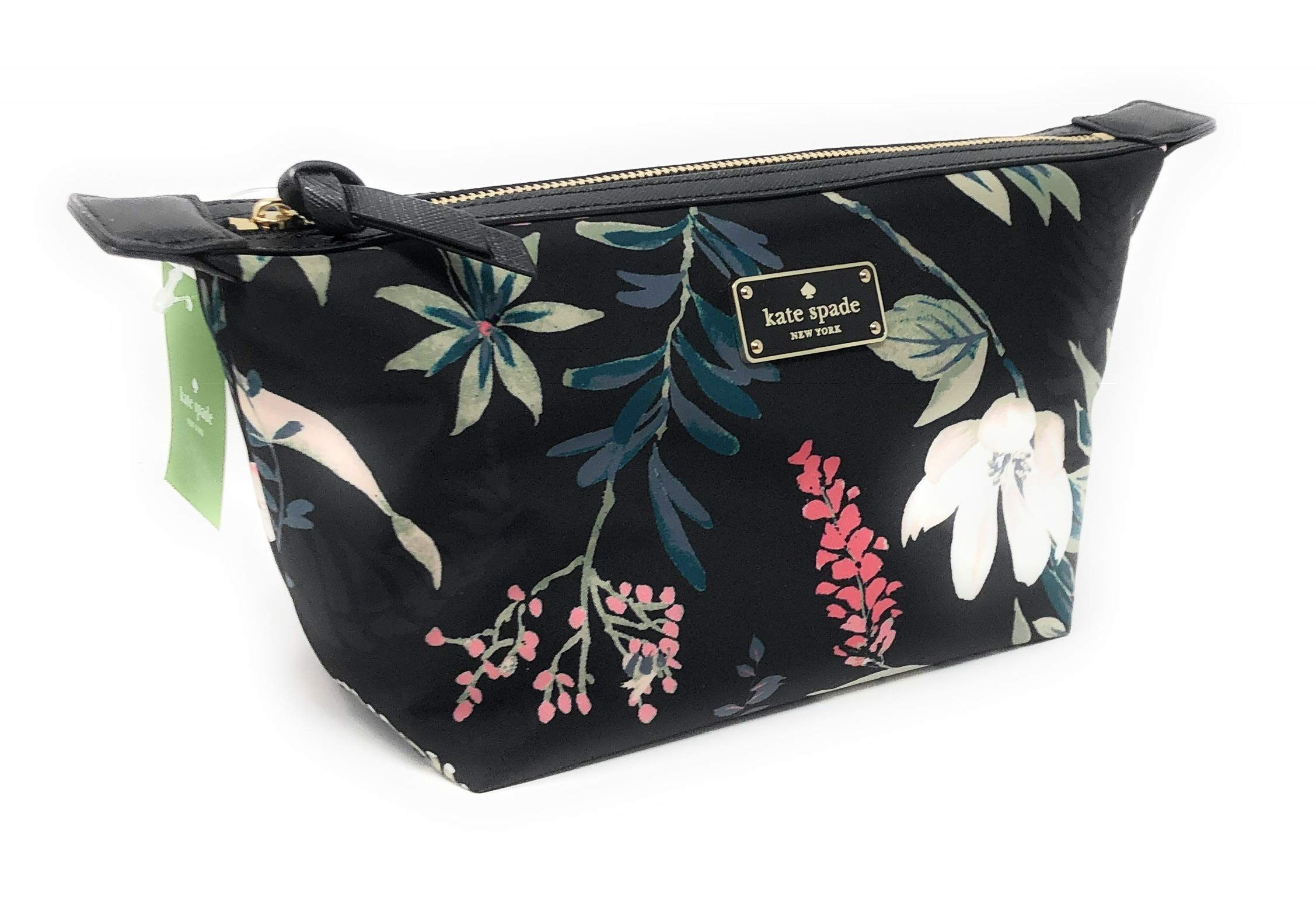 Kate Sapde Jodi Wilson Road Botanical Cosmetics Make-Up Clutch Bag Black Multi