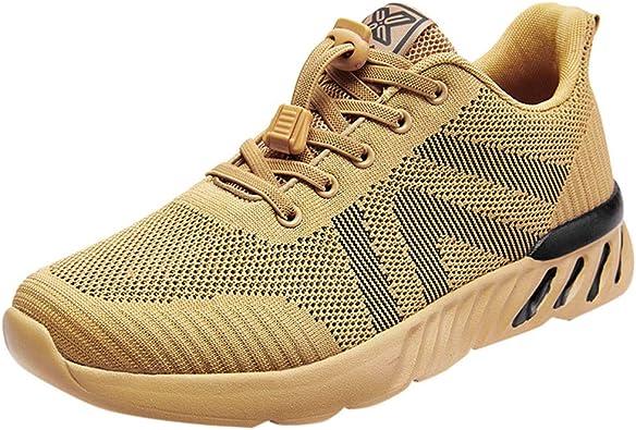 Poamen - Zapatillas de running para hombre, ligeras, para deportes al aire libre, gimnasio, fitness, caminata, correr, caminar, casuales, color Negro, talla 38 2/3 EU: Amazon.es: Zapatos y complementos