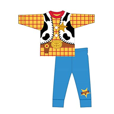 ace3c23dd Disney Toy Story Childrens Boys Woody Costume Long Pyjamas: Amazon.co.uk:  Clothing