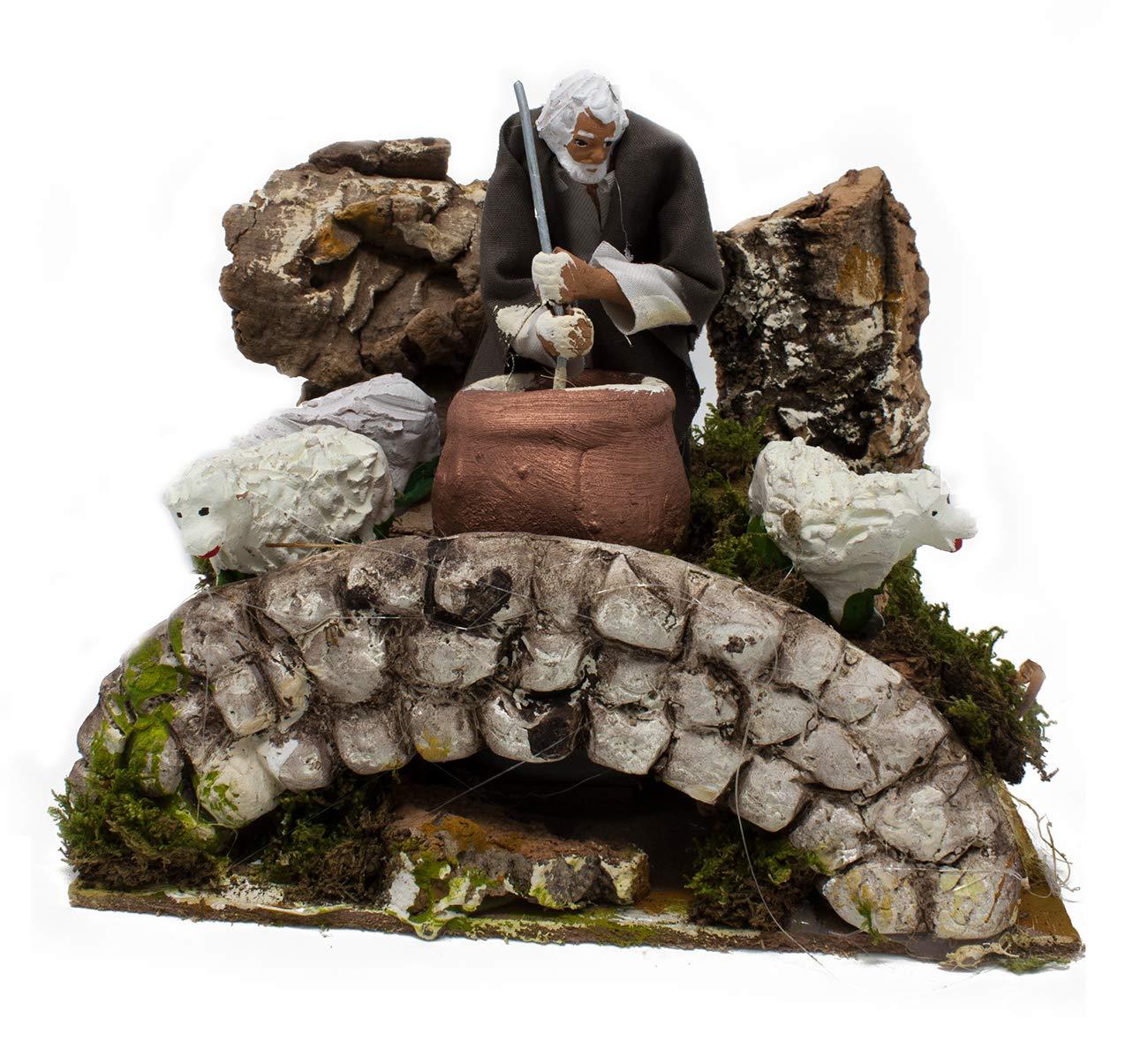 Pastore per Presepe in Movimento 17 cm x 17 cm Il Ricottaio Joy Christmas