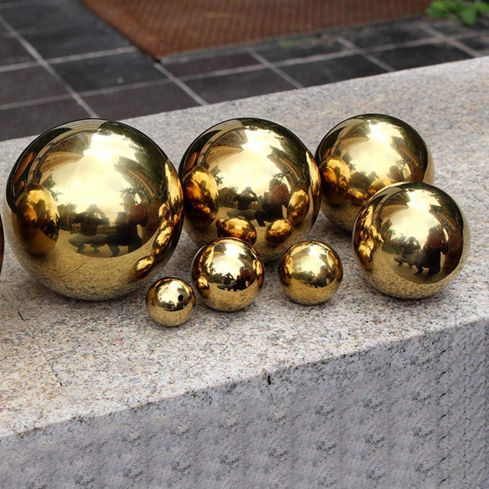 Ornament Dekokugel Hohlkugel Edelstahl Goldene Nahtlose Spiegelkugel Garten Ball Schwimmenden Ball f/ür Haus Garten Dekoration usw