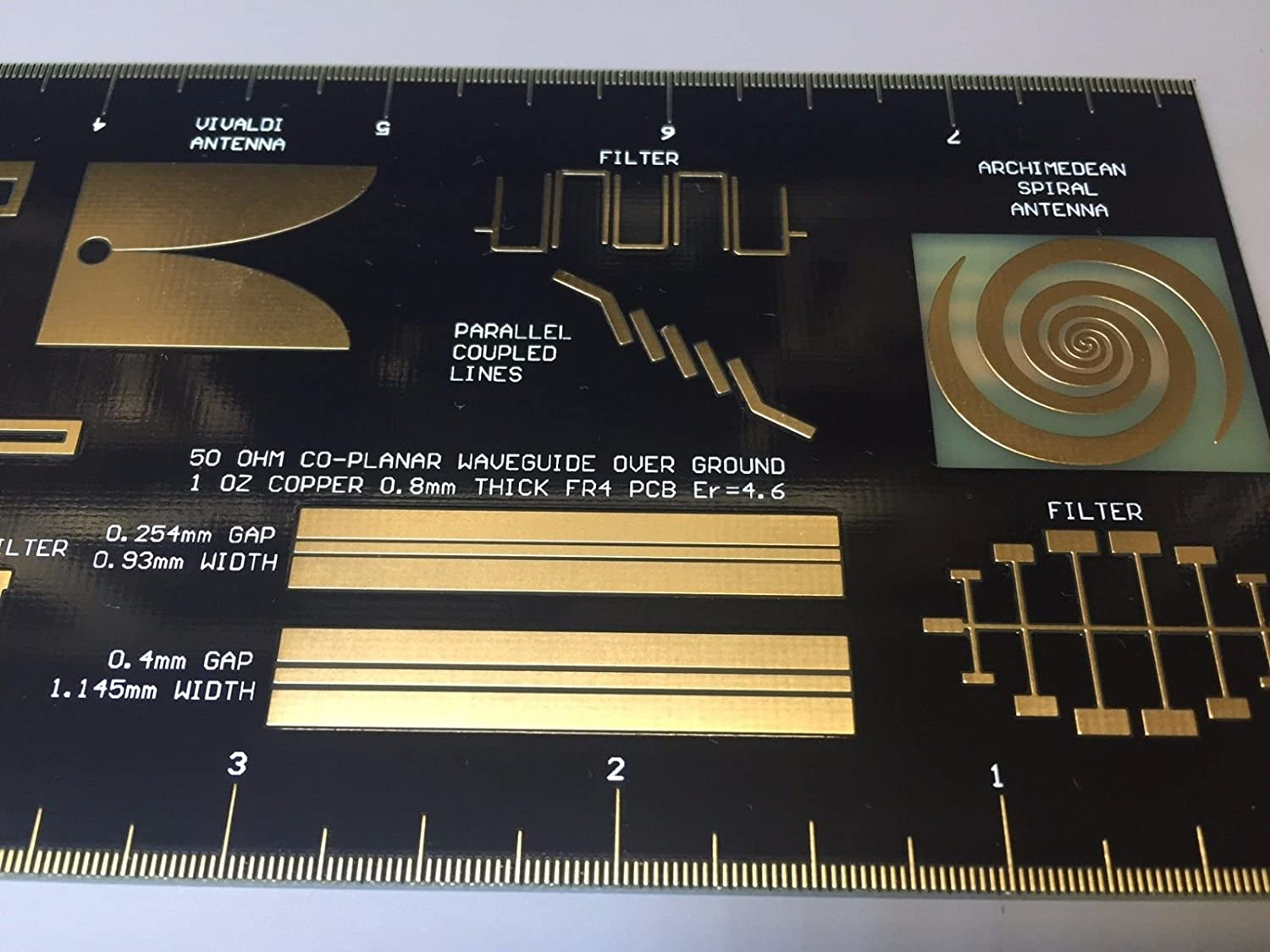 Amazon com : PCB RULER RF & MW SPECIAL EDITION Double-sided Gold