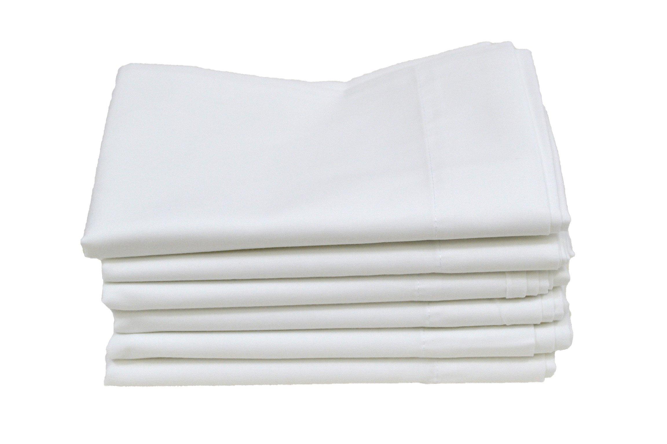 Hotel Basics X31000 T180 Standard Pillow Case, 42'' x 34'', White (Pack of 12)