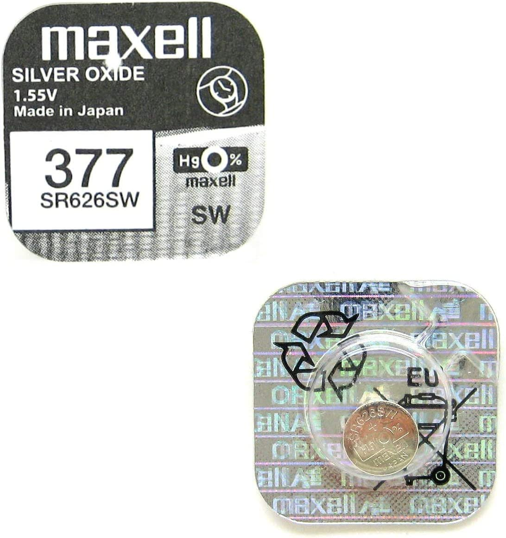 Maxell Sr626sw 377 Knopfzelle Silberoxid 1 55v Kamera