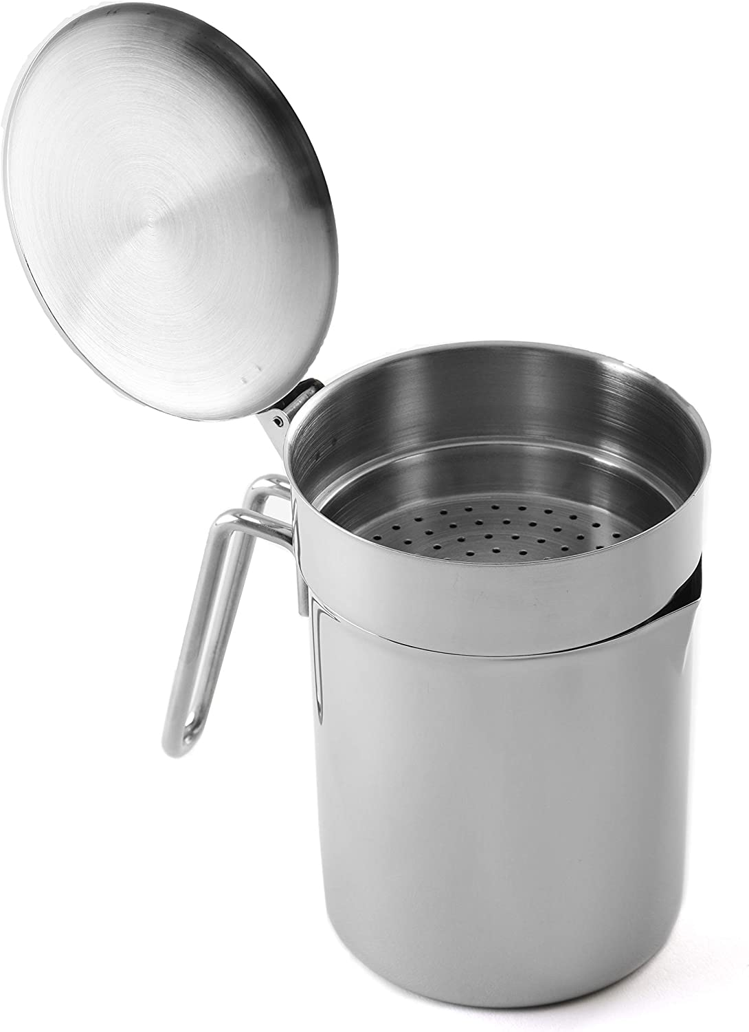 Norpro Stainless Steel Grease Catcher/Strainer, One Size, Silver