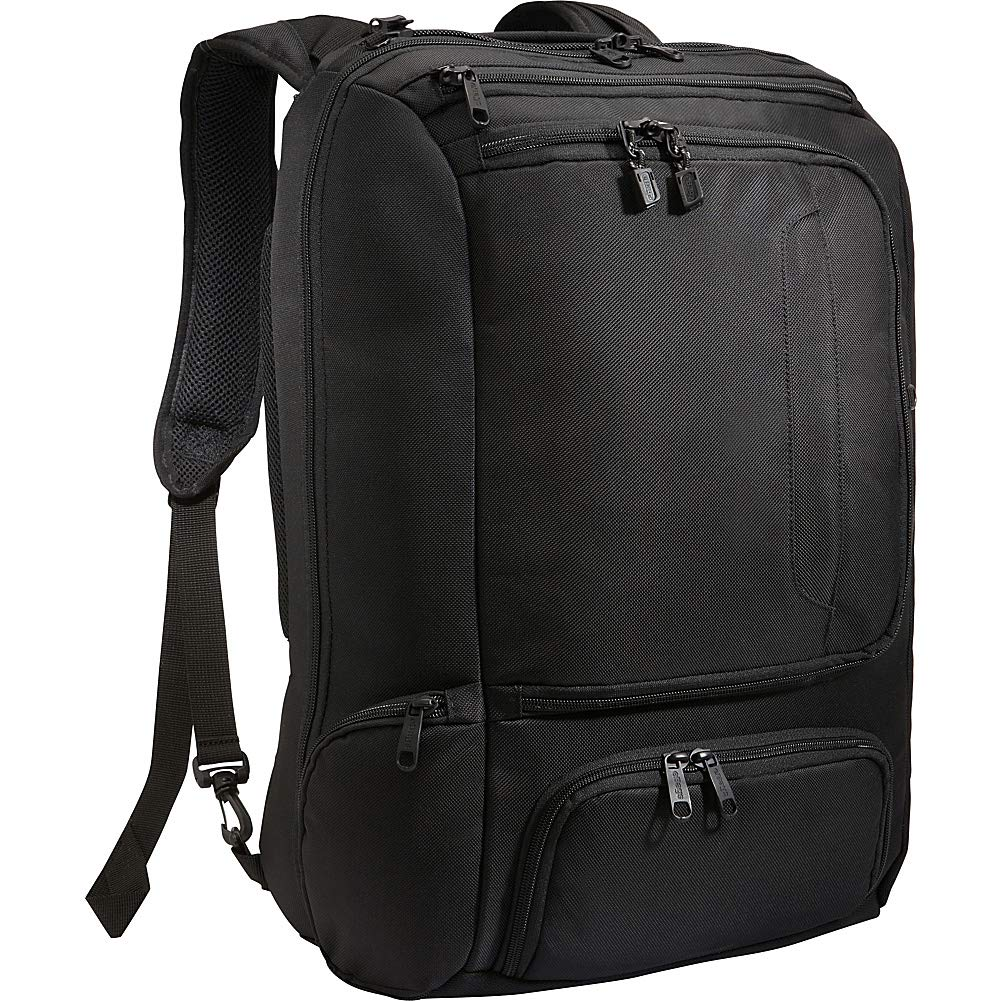 eBags Professional Weekender Carry-On Backpack Fits 18'' Laptop for Travel & Business - TSA Friendly - (Black)