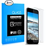 [2 Pack] iPhone 7/8 Plus Screen Protector, 9 HD Hard 99% Clear Tempered Glass Ultra Clear Shatter Proof Screen Protector Support iPhone 7 Plus, iPhone 8 Plus