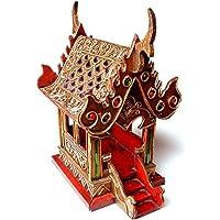 Thai espíritu casa small6samoraphum Budista para tallar Madera