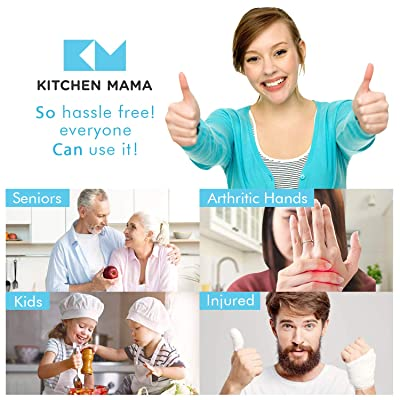 Buy Kitchen Mama Electric Can Opener Open Your Cans With A Simple Push Of Button No Sharp Edge Food Safe And Battery Operated Handheld Can Opener Sky Blue Online In Germany