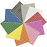 eBoot 3/8 Pulgadas Etiquetas de Codificación Redondo Pegatinas de Puntos de Color,10 Colores Diferentes,10 Hojas