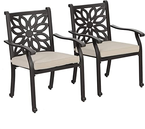 Sophia William Patio Outdoor Dining Chairs Set of 2