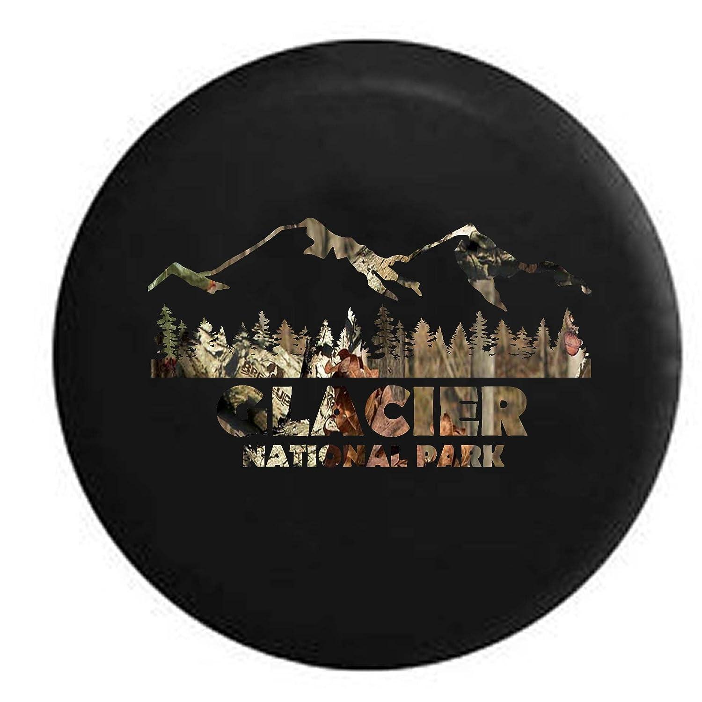 Glacier National Park Montana Trailer RV Spare Tire Cover OEM Vinyl Black 27.5 in Pike Stealth