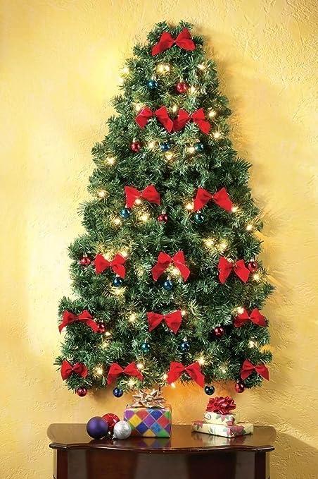 lighted christmas wall tree - Lighted Christmas Wall Decorations