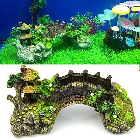Ariel - Adorno de agua para pecera, decoración de acuario, estilo clásico
