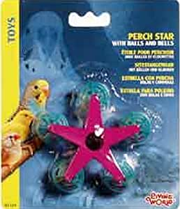 Living World Perch Star with Balls and Bells Bird Toy