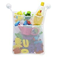 Baby Bath Toy Storage Orgainiser Net With Floating Bath Thermometer & 36 Foam Letters/Numbers