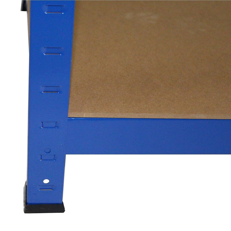 Steckregal 200x120x50 cm blau Werkstattregal Kellerregal ...