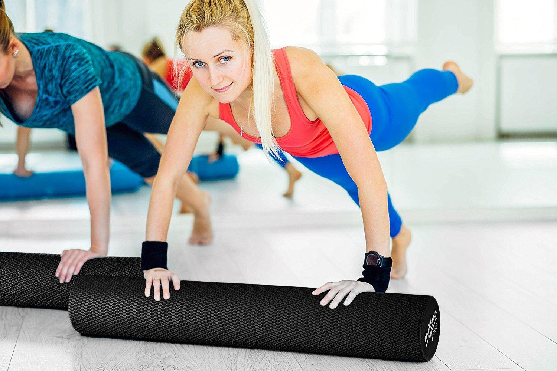 Maximo Fitness Rodillo de Espuma Largo – 6 x 36 Pulgadas (15 cm x 90 cm) – Tipo Trigger Point Herramienta de Auto Masaje para Casa, Gimnasia, Pilates, ...