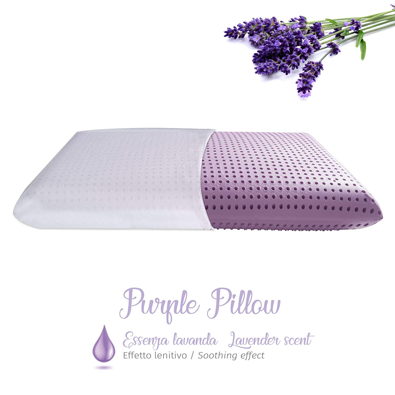 Materassiedoghe Cuscino in Memory Foam a Base dAcqua alle Essenze Naturali Altamente Traspirante Blue Pillow - Essenza di Eucalipto - Effetto Rilassante