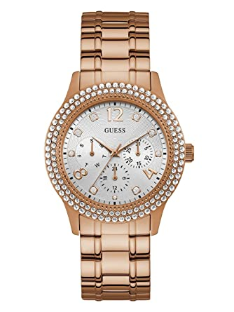 Amazon.com: Guess - Reloj casual de cuarzo para mujer, acero ...