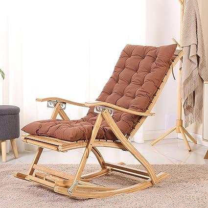 Silla Plegable Sillones reclinables Tipo S Mecedora de bambú ...