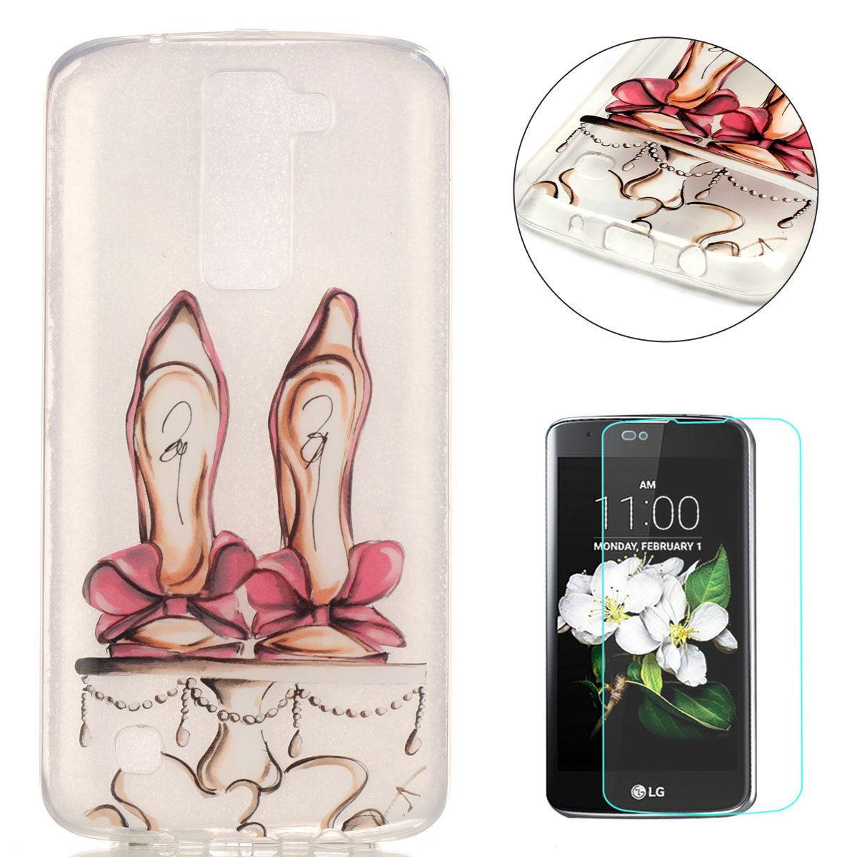 CaseHome For LG K8 silicone TPU Case Shock Proof Protective Durable [Free Screen Protector]