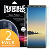 Samsung Galaxy Note 8 Phone Screen Protector Ringke Invisible Defender [Full Coverage][2-Pack] Edge to Edge Side Coverage [Case Compatible] Scratch Resistant Thin HD Clearness Film for Note8