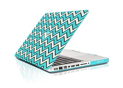 """Hot Blue Chevron with Black Outline Hard Case for Macbook PRO 13/"""" A1278"""