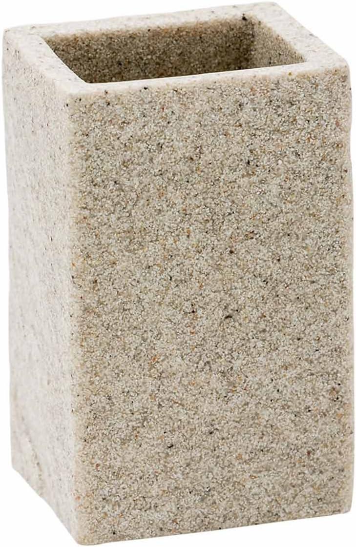 Porta Spazzolini Da Appoggio col Syl sabbia in poliresina mod