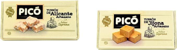 Picó - Pack Turron Artesano de Jijona y Alicante - Turron blando y duro caja madera - Calidad suprema 300gr: Amazon.es: Alimentación y bebidas