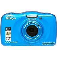 Nikon COOLPIX W100 Digital Camera Blue Australian Warranty, Blue (VQA011AA)