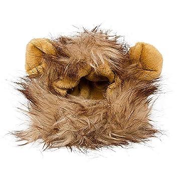 Lion Mane peluca disfraz de gato y perro pequeño, disfraz con plumas ...