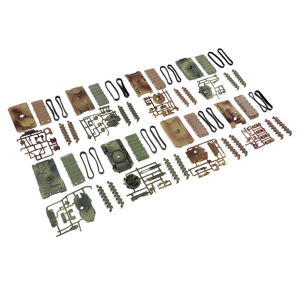 KESOTO 4d 8pieces Lot Tanques Modelo II De La Mundial 1:72 Juguete Pl/ástico DIY Tanques De Montaje