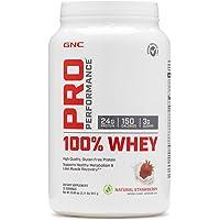 GNC 健安喜 Pro Performance 100 专业性能系列乳清蛋白质,天然草莓味,2.11磅(约 957.1 克)