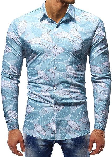 Blusa Impresa de la Manera del Hombre Camisas Ocasionales de ...