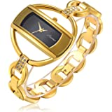 Fashion Women Crystal Bangle Watch Ladies Luxury Wrist Quartz Watches